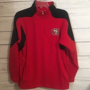 NFL Team SF 49ers Youth L 14/16 fleece pullover